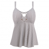 Elomi Swim Checkmate Plunge Bikinitop Grey Marl