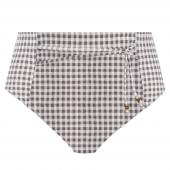 Elomi Swim Checkmate Hoog Bikinibroekje Grey Marl
