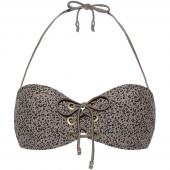 Beachlife Cheetah Bandeau Bikinioberteil Taupe