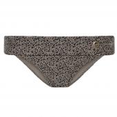 Beachlife Cheetah Bikinihose mit Umschlag Taupe