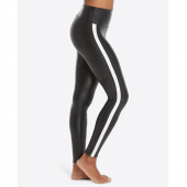 Spanx Faux Leather Side Stripe Legging Very Black