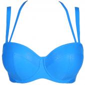PrimaDonna Swim Freedom Trägerloses Bikini-Oberteil Blue Jump