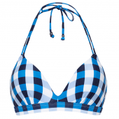 Beachlife Italian Picnic Wattiertes Triangel Bikinioberteil