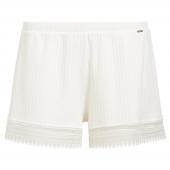Cyell Sleepwear Silky Rib Kurze Schlafanzughose Ivory