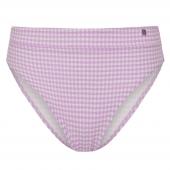 Beachlife Lilac Check Hoog bikinibroekje