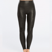Spanx Look At Me Now Moto Figurformende Legging Schwarz