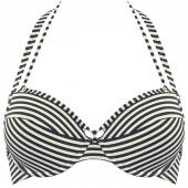 Marlies Dekkers Holi Vintage Push-Up Bikini-Oberteil Ecru Blau