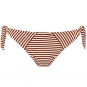 Marlies Dekkers Holi Vintage Bikini-Hose mit seitlichen Bändern Ecru Rot