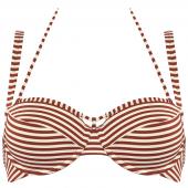 Marlies Dekkers Holi Vintage Balconette Bikini-Oberteil Ecru Rot