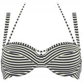 Marlies Dekkers Holi Vintage Balconette Bikini-Oberteil Ecru Blau