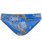 Cyell Medina Bikinihose mit Plissee Blau