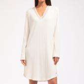 Cyell Sleepwear Silky Rib Langärmliges Nachthemd Ivory