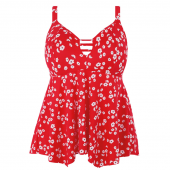 Elomi Swim Plain Sailing Tankinitop Red Floral