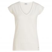 Cyell Sleepwear Silky Rib Kurzärmliges Schlafshirt Ivory