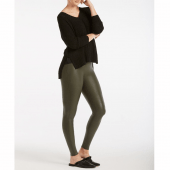 Spanx Ready-to-Wow Faux Leather Figurformende Legging Rich Olive