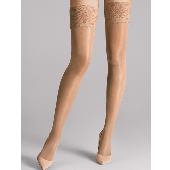 Wolford Satin Touch Stay-up Strümpfe 20 Denier Caramel