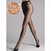 Wolford Satin Touch Panty's Nearly Black