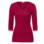 Hanro Woolen Lace 3/4 mouw Shirt Lucky Charm - Annadiva