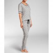 Cyell Sleepwear Spring Retreat Kurzärmliges Shirt Schwarz-Weiß