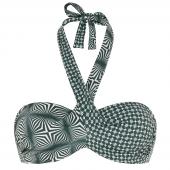 Cyell Desert Trägerloses Bikini-Oberteil  Grün-