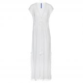 Cyell Sunset Langes Strandkleid Weiß