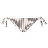 Beachlife Taupe Stripe Bikinihose mit seitlichen Bändern