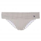 Beachlife Taupe Stripe Bikinihose mit Umschlag
