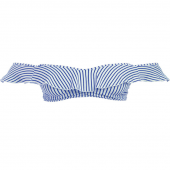 Freya Swim Totally Stripe Bardot Bikinitop Cobalt