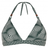 Cyell Desert Triangel Bikini-Oberteil Grün