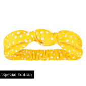 Annadiva Yellow Dot Haarband