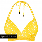 Beachlife Yellow Dot Padded Triangle Bikinitop